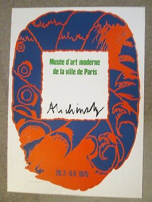 Alechinsky Expo Paris 1975 Handsigned