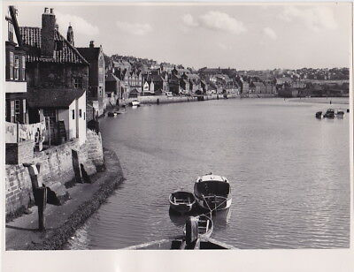 RIVER ESK at Whitby ENGLAND by G. DOUGLAS BOLTON * VINTAGE c.1950s STAMPED photo