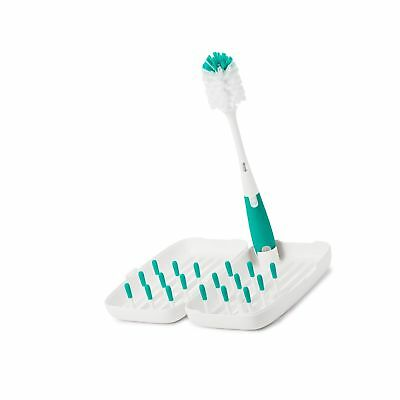 OXO Tot On-The-Go Drying Rack with Bottle Brush, Teal #E47