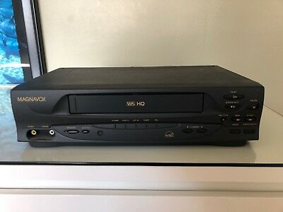 MAGNAVOX VCR VHS HQ PLAYER 4 HEADS VR201BMG21 TESTED and WORKING!
