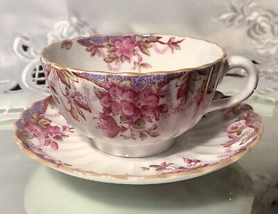 Copeland China SPODE IRENE Y6470 Tea Coffee Cup and Saucer Pink +
