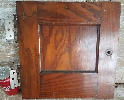 Antique Wood Panelled Door Wash Stand Small Cabinet Oak Furniture Salvage Part