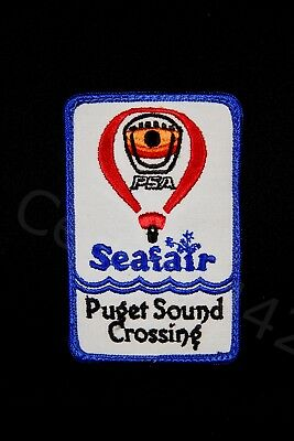 "PSA Airlines VINTAGE Balloon PATCH Seafair Puget Sound Crossing 4.5"" Gift"