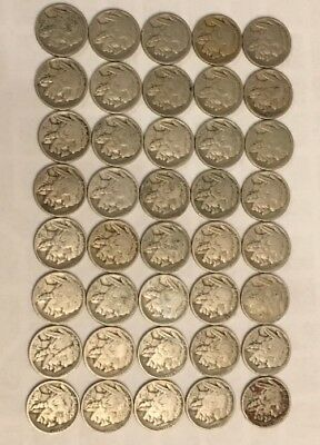 VINTAGE United States Coin Lot Of 20 Buffalo Nickels 1920s