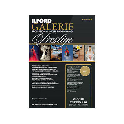 New Ilford Galerie Prestige Smooth Cotton Rag Inkjet Photo Paper A2 25 pk