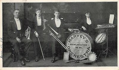 Manchester, NH-Post Card View of Harvey's Orchestra of Manchester