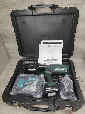 Greenlee ESG45L11 Gator Battery-Powered ACSR Cable Cutter w/Charger ESG45L