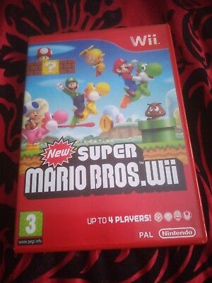 NEW SUPER MARIO BROS for Nintendo Wii & Wii U CASE ONLY no game