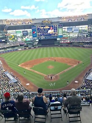 1-4 New York Mets @ Milwaukee Brewers 2019 Tickets! 5/5/19 Sec 422 Row 8! Miller