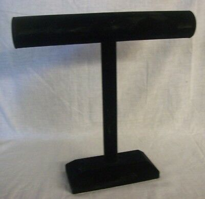 "Store Fixtures SINGLE BAR NECKLACE JEWELRY DISPLAY Black Velvet 12"" T x 12"" bar"