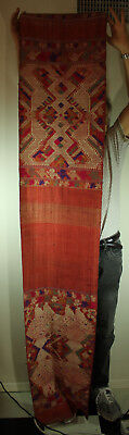 SOUTHEAST ASIAN TEXTILE Pha biang (shawl), woven by T'ai Nuea SILK on COTTON