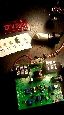 dunlop WAH drop-in kit W LED preMODDED/truebypass. MOD your tones!crybaby gcb95