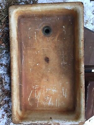 ANTIQUE Kolher 1160 LAUNDRY SINK Trough  Heavy  22x36  7-15-25
