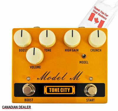 Tone City Model M Overdrive/Distortion TC-T32 Pedal Hand Made True Bypass