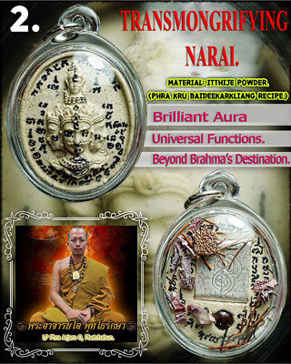 Narai Pleang Roop LP O Thai Amulet Attaction Charm Rich Wealth Luck Protect #2