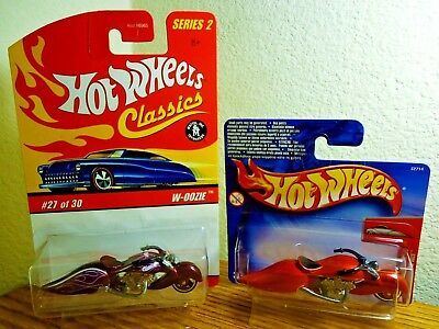 Hot Wheels Classics W-Oozie Motorcycle Purple Limited & First Edition Rare Mip