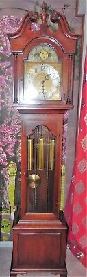 Beautiful Vintage Seth Thomas Germany GrandFather Clock Moon Dial Westminster