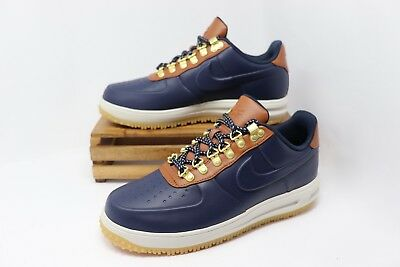Nike Lunar Force 1 Duckboot Low Shoes Obsidian Saddle Brown AA1125-400 Men s  NEW 3076c6a4b