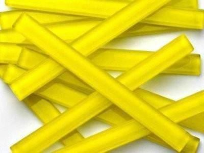 Yellow Crystal Glass Mosaic Tile Strips 10x98x4mm - Art Craft Supplies