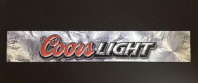 Coors Light Beer Signs Sturdy Vinyl Plastic Man Cave Party Bar ALMOST GONE