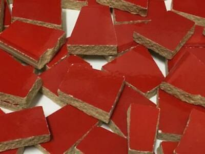 Bright Red Irregular Shaped Ceramic Mosaic Tiles - Art Craft Supplies