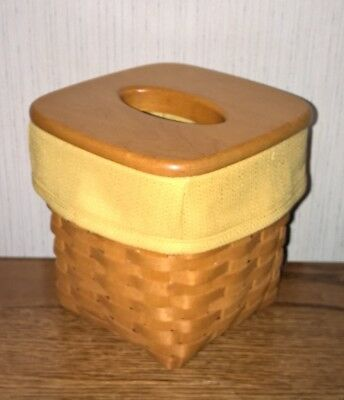 Tall Tissue Basket Liner from Longaberger Butternut fabric! New!