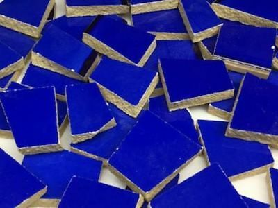 Dark Blue Irregular Shaped Ceramic Mosaic Tiles - Art Craft Supplies