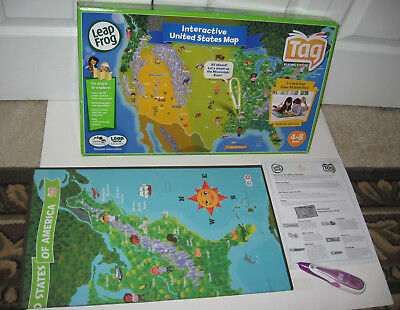 Leap Frog Tag Interactive United States Map plus Reader Stylus Pen N2390 #22010