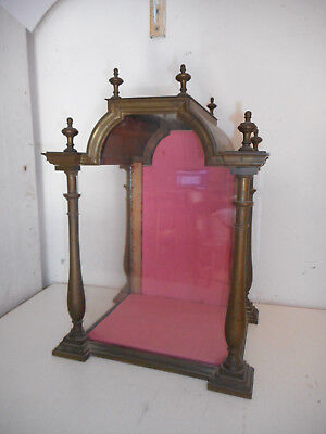 RARE VITRINE ANCIENNE EN BRONZE.XIX°.Showcase.Reliquary.Ostensoir,monstrance.