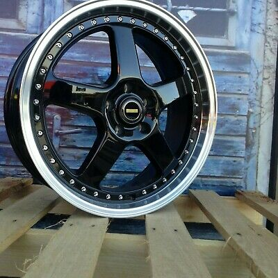 """20"""" ForgeAuto Simmons Style Wheels in Black Machined Lip suit Holden Commodore"""