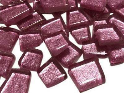 Pink Irregular Shaped Metallic Glass Mosaic Tiles - Art Craft Supplies