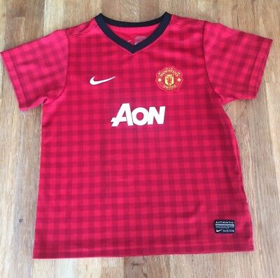 Kids Childs Youth Manchester United Football Shirt Nike Age 6-7Years Junior