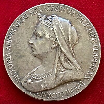 Queen Victoria, Official Diamond Jubilee Silver Medal, 1837-1897. 25mm.