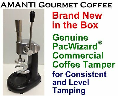 BRAND NEW in Box Genuine Consistent Level PacWizard Coffee Tamper + AMANTI Bonus