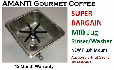 BARGAIN NEW MixTec professional Coffee Milk Jug Pitcher Rinser Washer + AMANTI