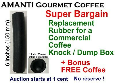 BARGAIN Coffee Knock Bin Box Waste Tube REPLACEMENT RUBBER hose + AMANTI Bonus