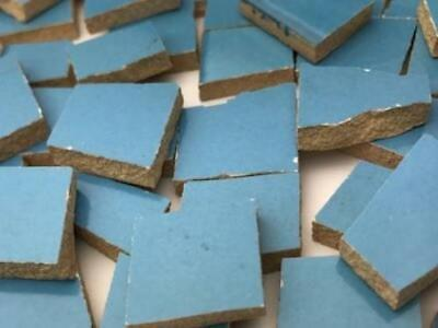 Vibrant Blue Irregular Shaped Ceramic Mosaic Tiles - Art Craft Supplies
