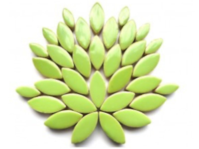 Apple Green Ceramic Petals for Mosaic Art Craft Supplies