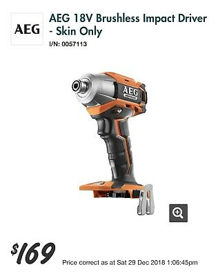 Aeg 18V Brushless Impact Drill, Brand New, Genuine Aeg, 😎 WEEKEND SALE ON NOW