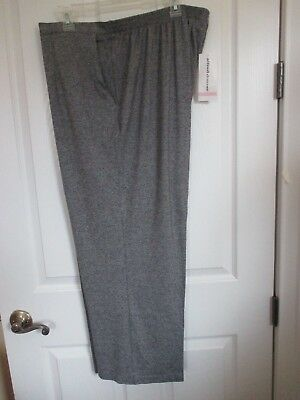 c7019dee511c3 NWT - ALFRED DUNNER women s gray black pull on knit pants - sz 24W -