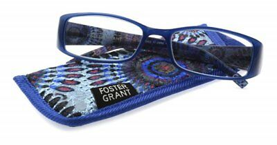 Foster Grant reading glasses Justine Blue, All strengths
