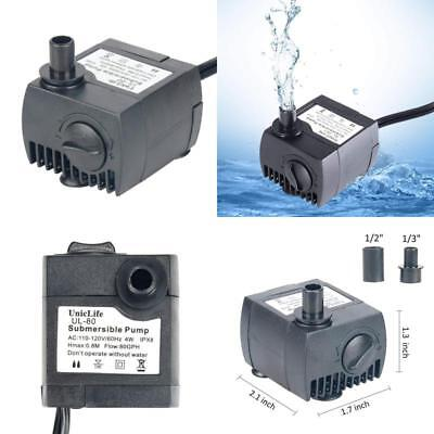 Pumps (water) Uniclife 80-550gph Submersible Water Pump With 6ft Power Cord For Fountain Aquar