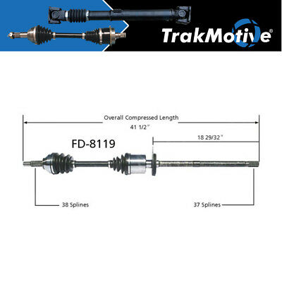 For Ford Freestyle 5Hundred FWD 05-07 Pair of Front CV Axle Shafts SurTrack Set