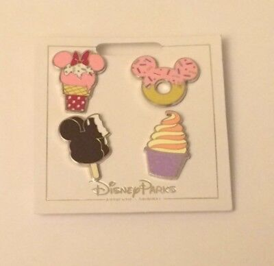 2018 Disney Parks ICE CREAM AND DONUT 4 Pin Booster Set (Lot # DPS5)
