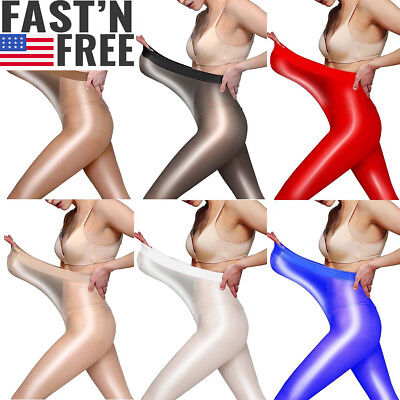 Super Elastic High Gloss Oil Shiny Pantyhose Sheer Stockings Tights Hosiery Hose