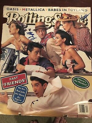 Rolling Stone Cover Autograph Signed Friends Aniston Perry Kudrow Jsa Coa