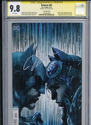 Batman 50 Lee Variant - CGC 9.8 - SS Signed By Jim Lee