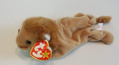 7114fb9d6a3 TY BEANIE BABY ~ ROARY the Lion ~ MINT with MINT TAGS ~ RETIRED ...