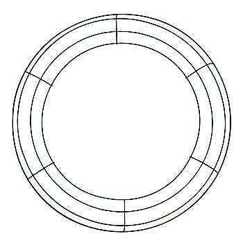 """14"""" Metal Wire Wreath Frame (sold in package of two 2)"""