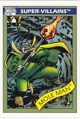 MOLE MAN #68 1990 Impel Marvel Universe Series I Base Card